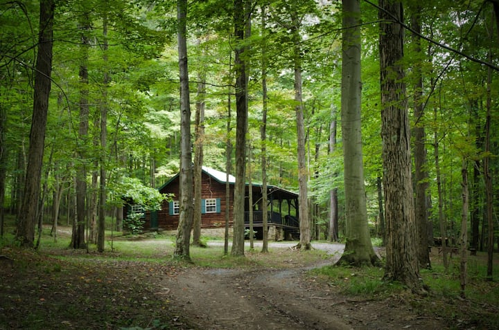 Rustic cabin in the Laurel Highlands.