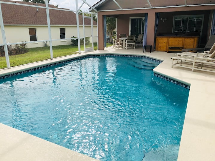 Gorgeous private pool home with large hot tub
