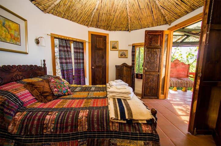 luxury yurt, view of Lake Atitlan, pool, hot tub