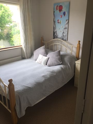 Garden view double room near UHW on the Dunmore Rd