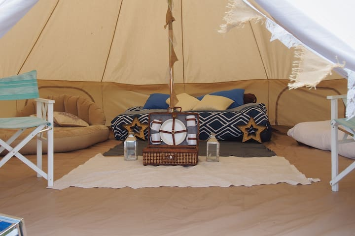 Big Bell Tent by the Sea (6 Pax)