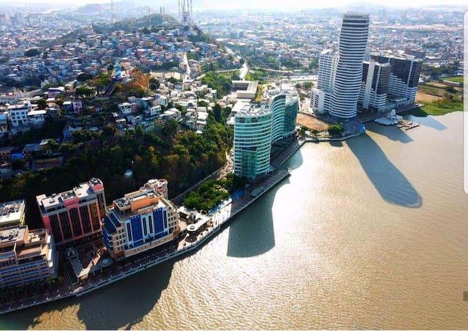 Puerto Santana the best tourist área In Guayaquil.