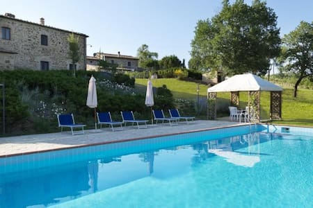 Lovely farmhouse apartment  with pool - Province of Siena - Apartament