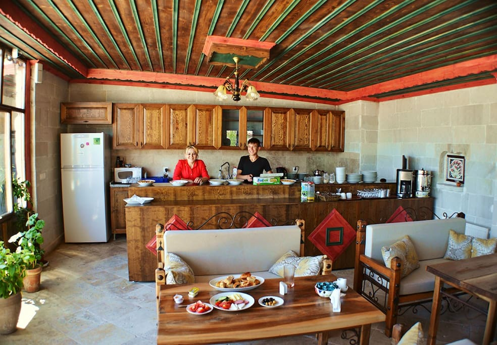 Breakfast at terrace restaurant