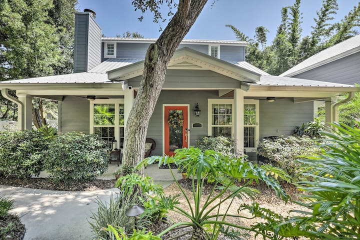 St. Augustine Home with Patio - Walk to Beach