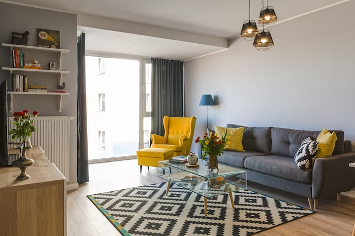 Beautiful brand new apartment Old Town vicinity! - Gdańsk - Leilighet