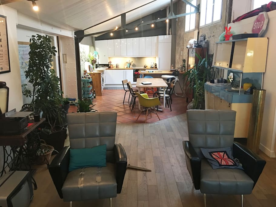 Espace cuisine salon de 50m2
