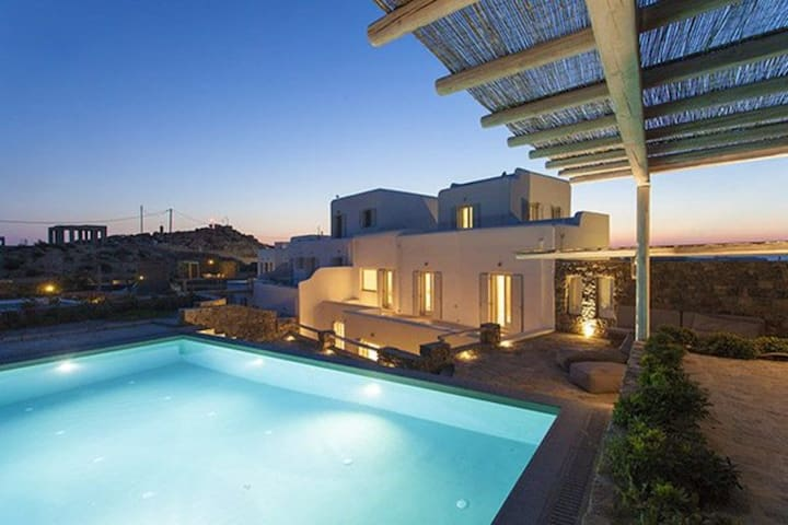 Mykonos Villa with 1 minute walk from the sandy beach  Villa 108