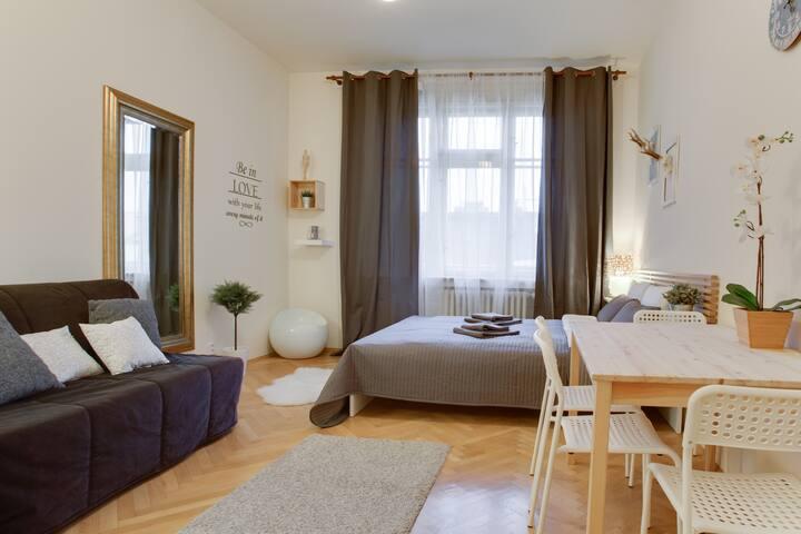 Prague gourmet quarter central flat - Praag - Appartement
