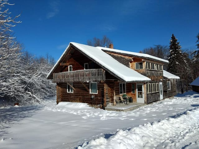 Secluded Log House with Views of Spruce Mtn