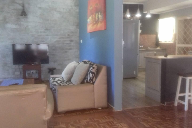 Open concept lounge