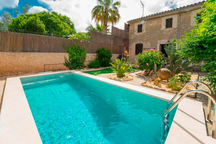 Typical old Majorcan house with a private pool