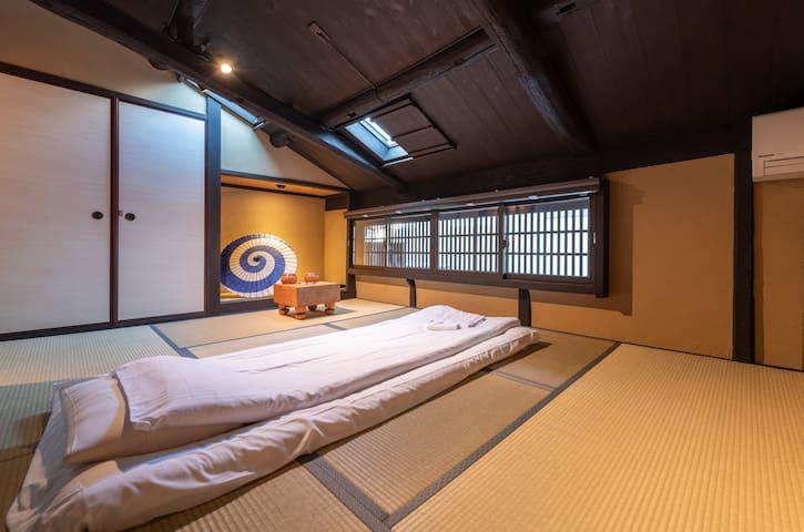 二层和式卧室 The second floor Bedroom with tatami futon