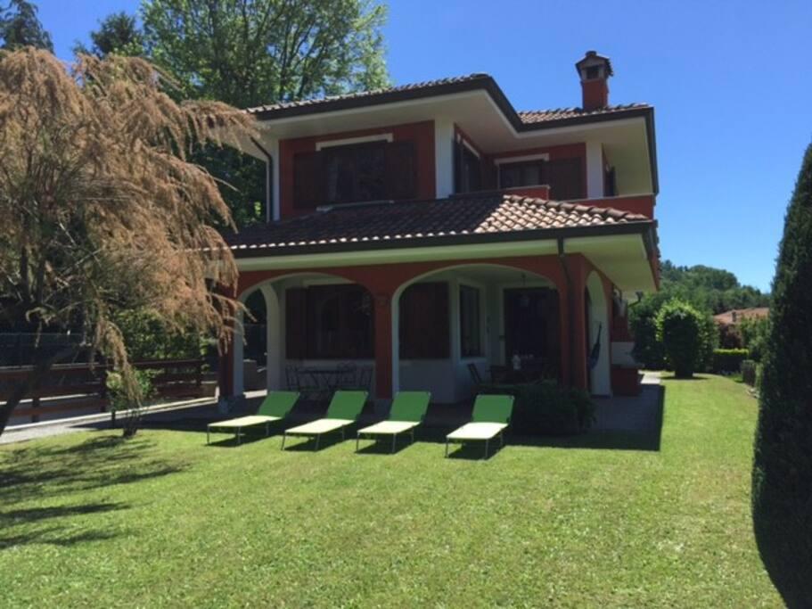 facciata nord della villa -  north side of the villa