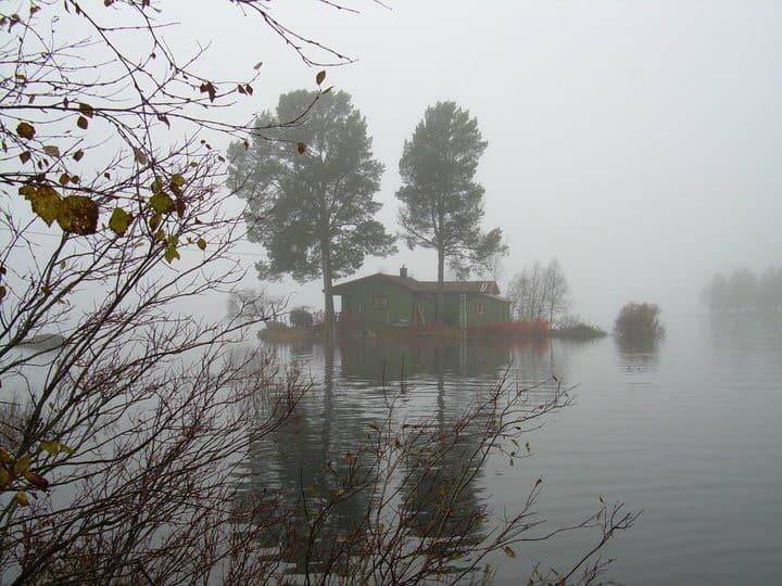 Holmen. Cozy cabin located on a island