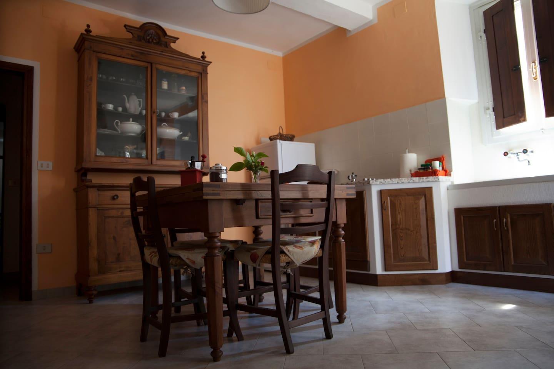 cucina-sala da pranzo