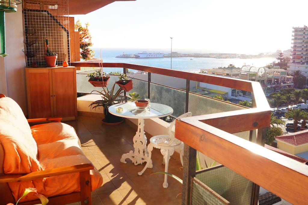 Terrace views to the Atlantic Ocean and La Gomera