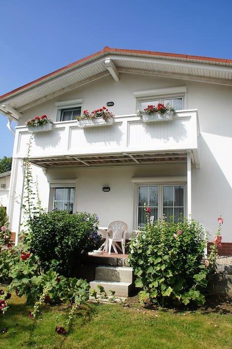 Terrasse von Fewo Kormoran