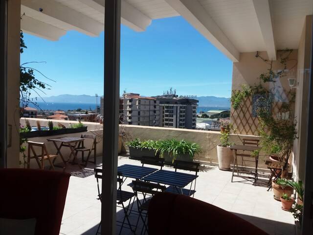 B&B Pineta Room Seaview terrace.