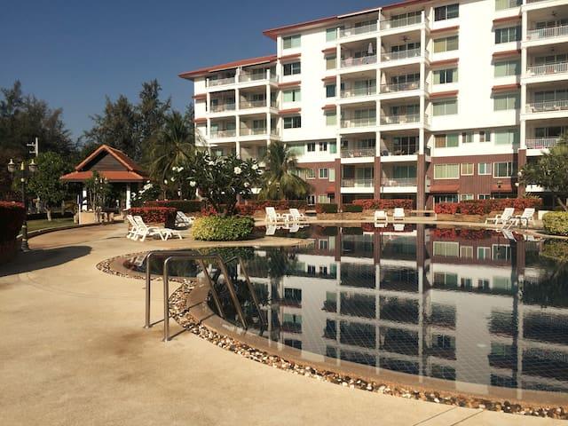 Beautiful beachfront condo in Laem Mae Phim