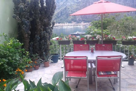 Lovely flower house near the sea - Kotor