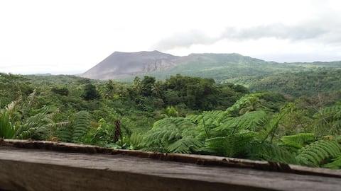 Bungalows com vista panorâmica para a montanha em Tanna