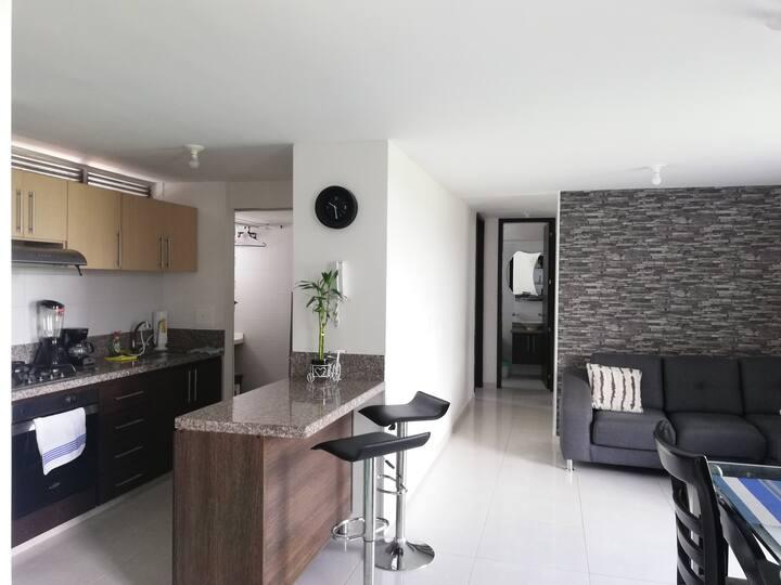 Excelente apartamento, con aire acondicionado