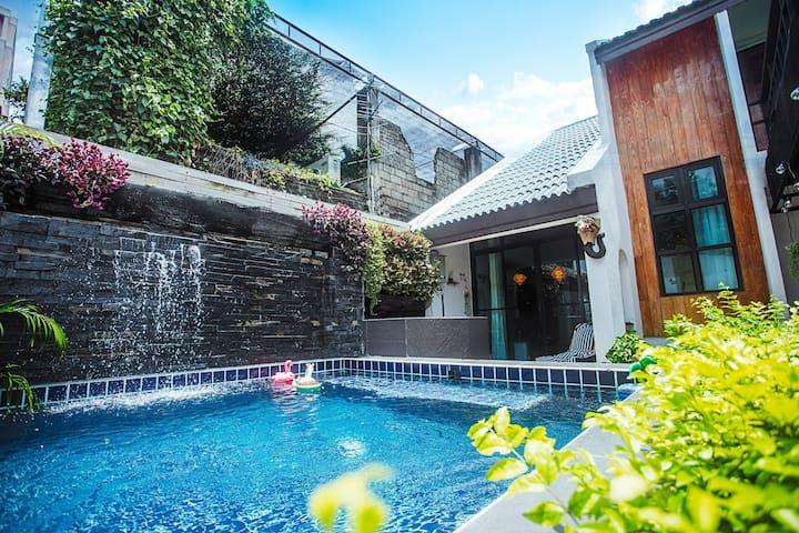 Animal house—野象谷,繁华地段,拥有私家儿童泳池,步行可到美食夜市,7-11,Spa会所