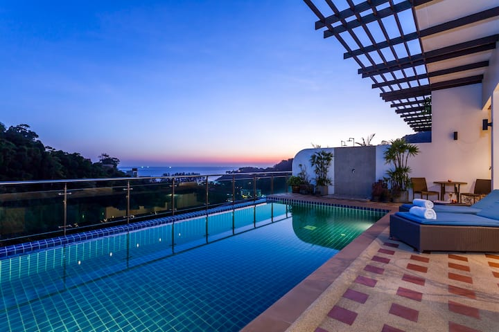 Seaview penthouse with pool at Kamala - Patong