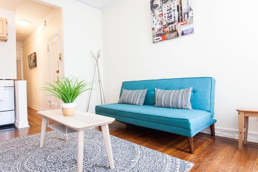 very bright living area