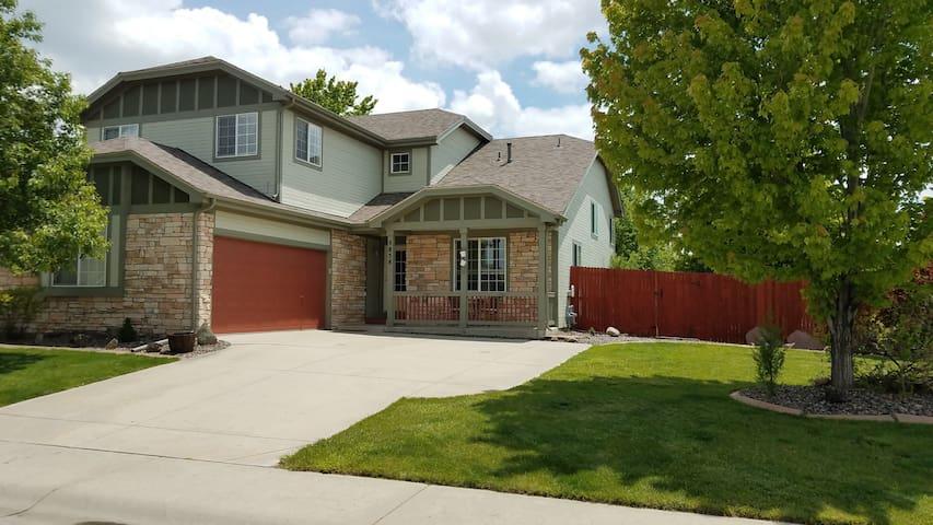 Semi-custom home on a large corner lot.