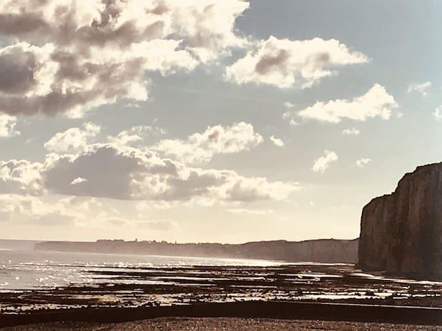 St Valery en Caux, appartement vue mer et falaise