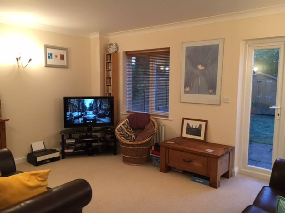 Living room (photo 1), with 2 x 2 seater leather sofas, HD TV, Sky TV, DVD Player, Nintendo Wii, CD Player