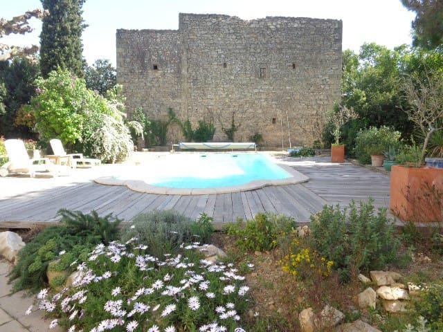 Grande maison lumineuse, piscine, jardin et parc. - Vergèze - Dům
