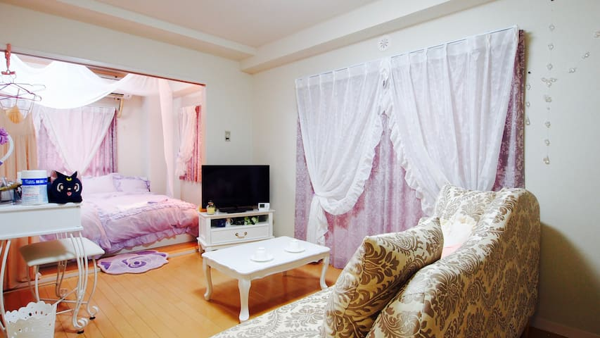 Welcome to the princess room★1min walk Sta★f/WiFi - Chiyoda-ku - Wohnung