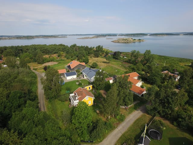 Charming house 300m from the sea - Åsa - Cabin