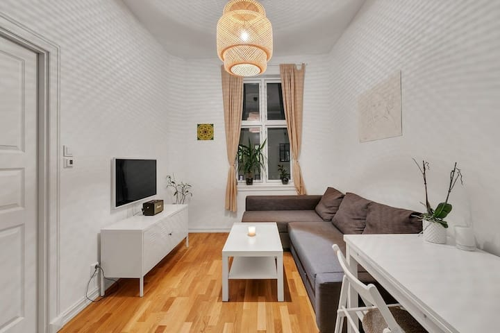 Modern and refurbished apt in quiet but central st