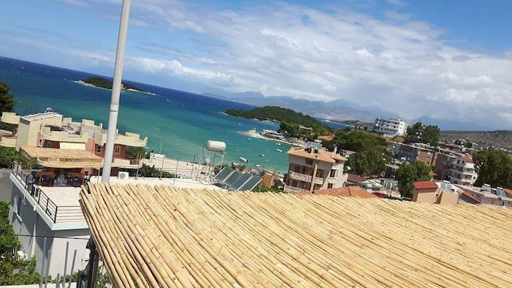Studio for 3 near beach,city & sea view