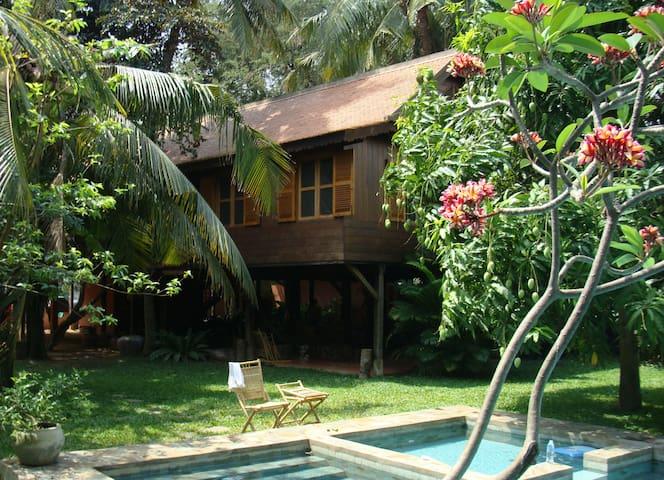 Tamarind House -- secret garden by the Mekong