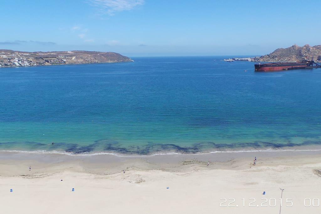 Vista frontal a playa la Herradura.