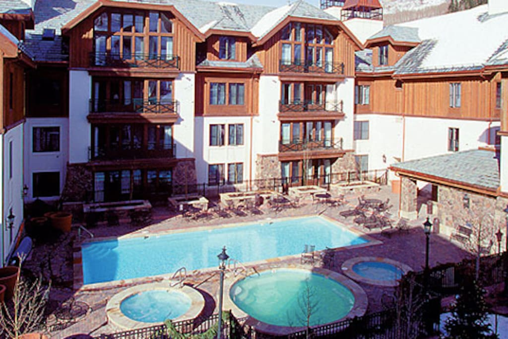 Heated Pool and adult, kid and family hot tubs