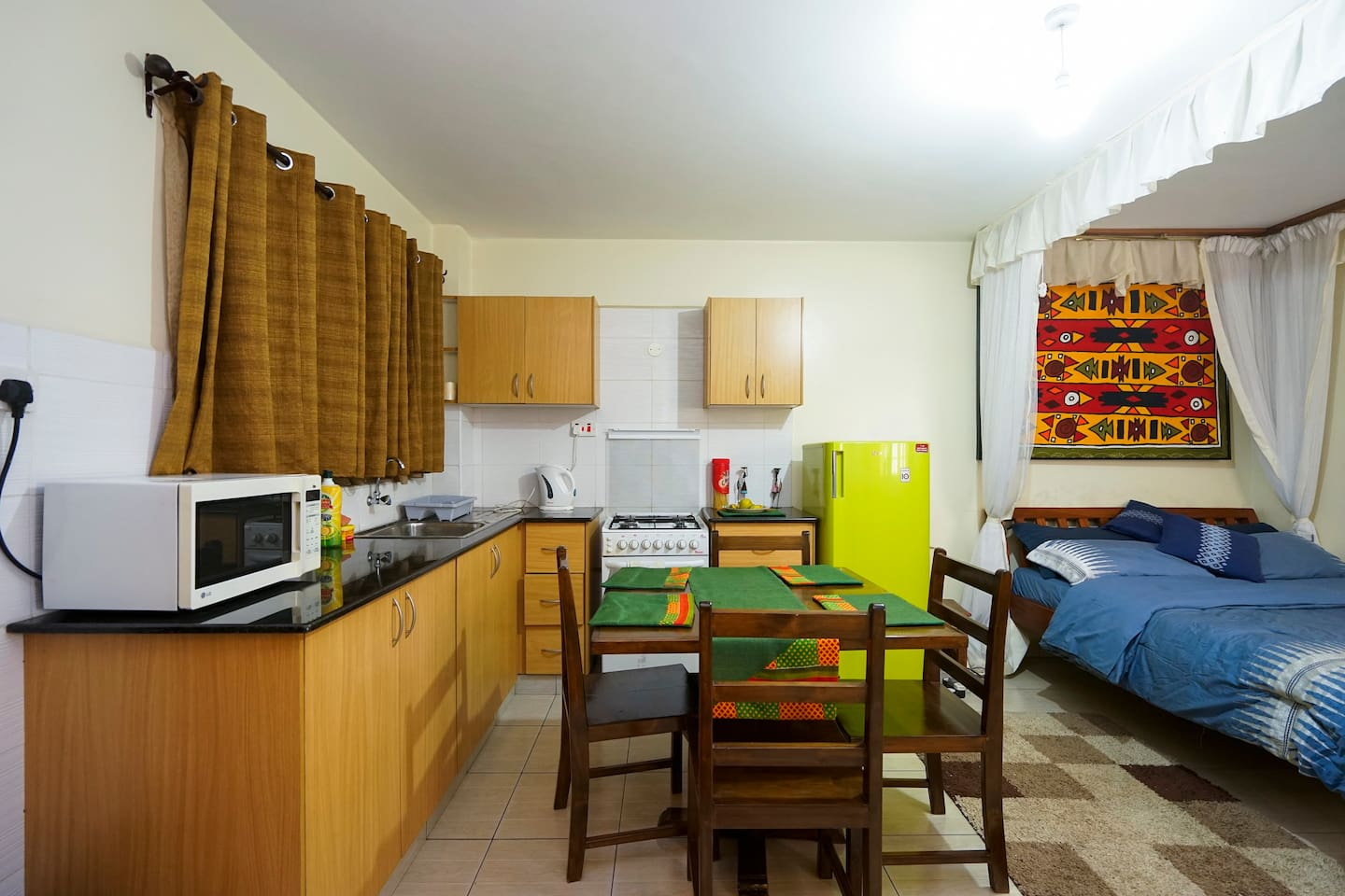 Tastefully furnished and decorated studio apartment