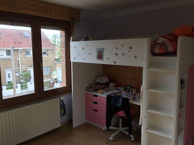La chambre d'enfant fille