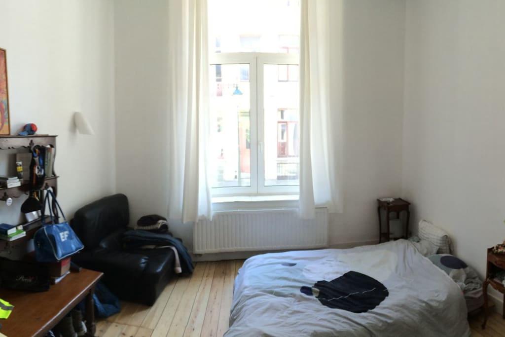grande chambre parquet, lit doubled