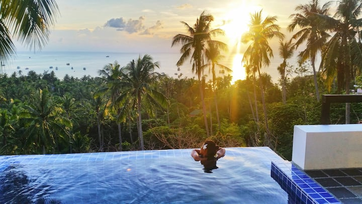 3 Br Pool Villa with the best sea views in Sairee