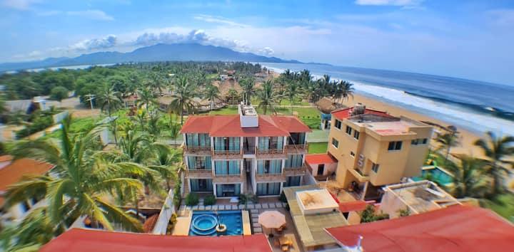 Hotel Casa Shula,  4 personas, a/a, playa, alberca