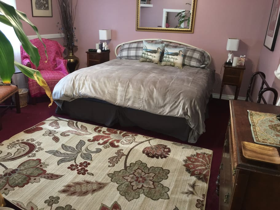 King bed on first floor.