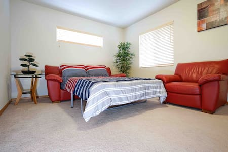 Full Size Leather Sofa Bed with Private Gym - Loveland - House