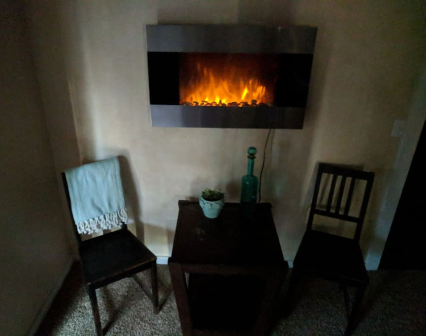 Your new fireplace in room, heat things up!