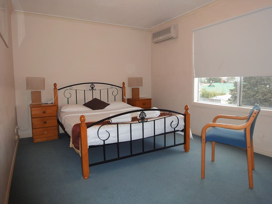 The main room with Queen bed and Walk-in wardrobe